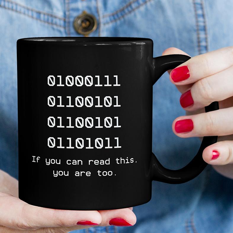 Caneca Código Binário Nerd Binary Se Você Pode Ler Isto Você Também Está Programação Dev (Preta) - EV