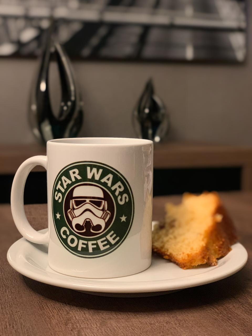 Caneca Coffee: Star Wars - Branca (350 ML)