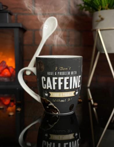 Caneca Com Colher Mocha I Don't Have A Problem With Caffeine I Have A Problem Without It! - EV