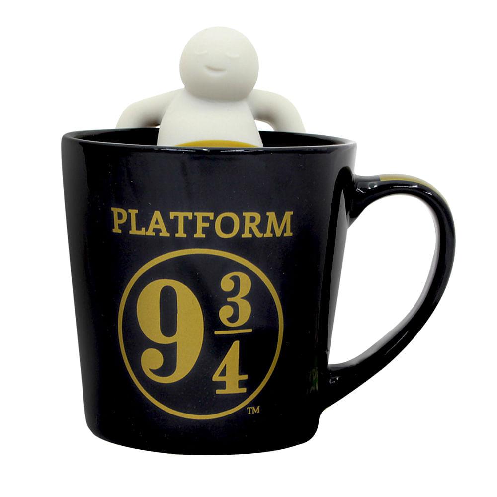 Caneca Com Infusor de Chá: Plataforma 9 3/4 Expresso Hogwarts: Harry Potter 350ml