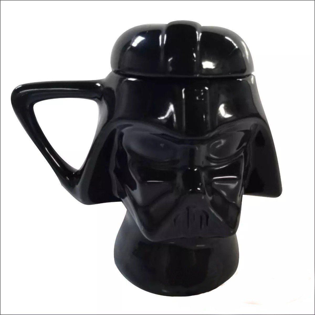 Caneca com Tampa Capacete Darth Vader: Star Wars