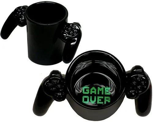 Caneca Controle de Vídeo Game - Game Over (Pequenos Detalhes Na Cerâmica)