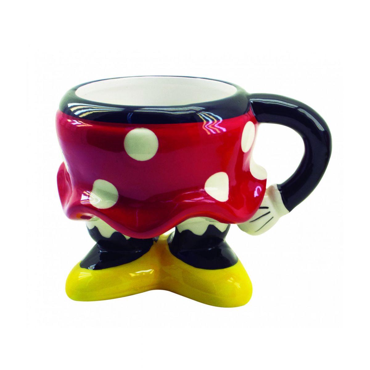 Enfeite de Porcelana / Caneca 3D Corpo Minnie Mouse: Disney