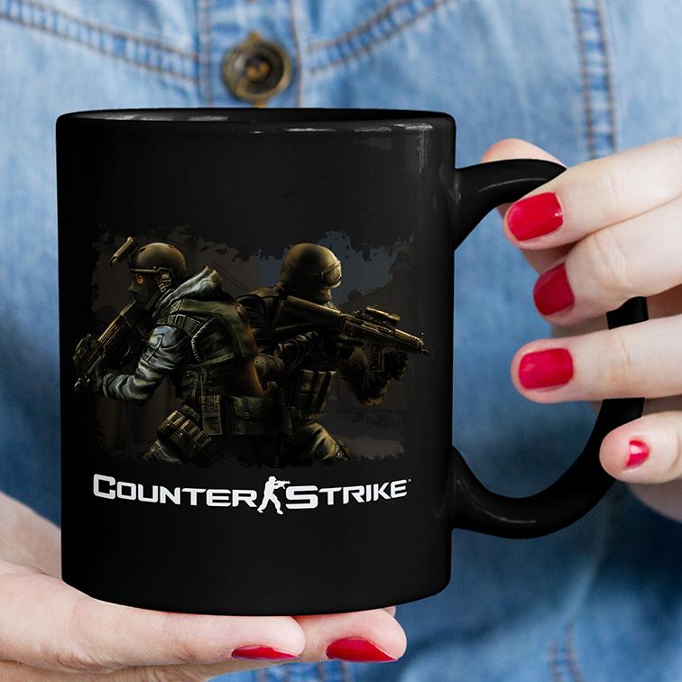 Caneca Counter Strike CS Go CT (Preta) - EV