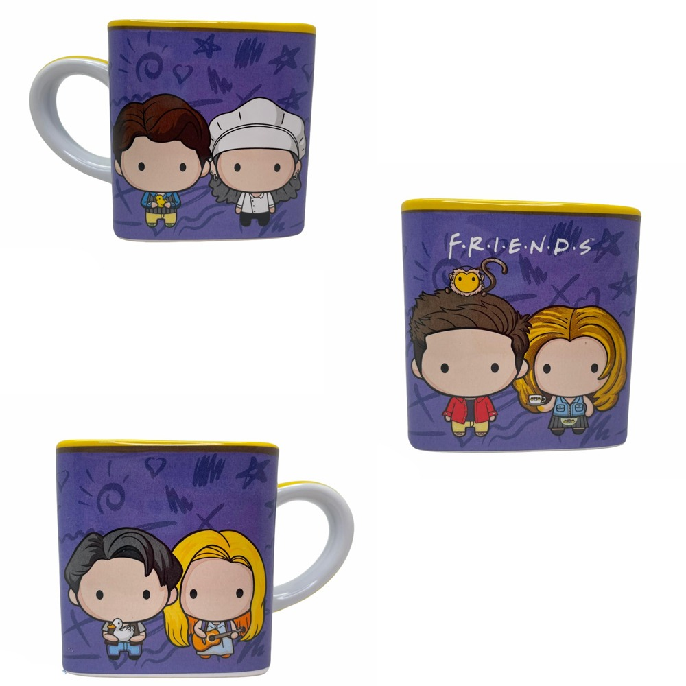 Caneca Cubo Friends Kawai Cute 300ml