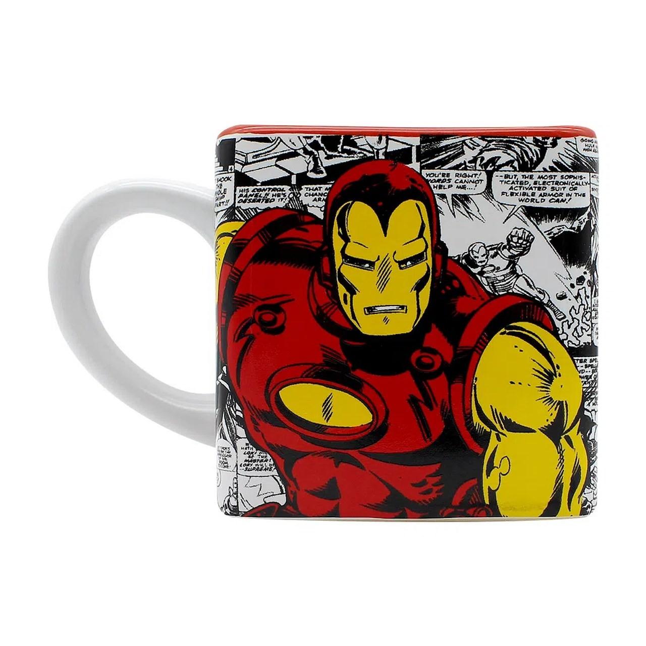 Caneca Cubo: Homem de Ferro ''Iron Man''  Marvel -  Zona Criativa