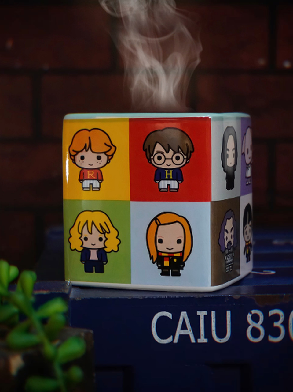 Caneca Cubo Personagens: Harry Potter 300ml - Zona Criativa