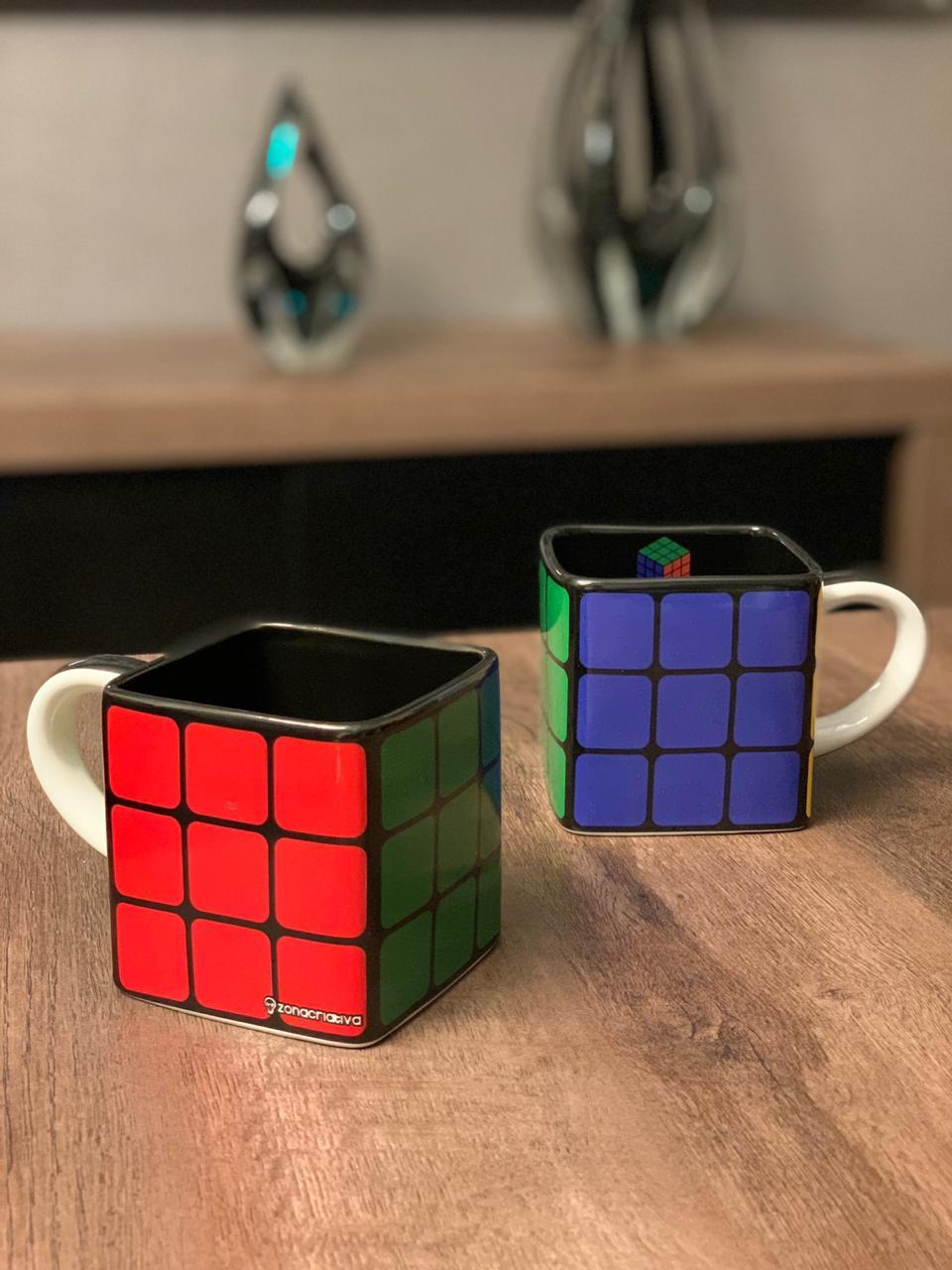 Caneca Cubo: Rubiks (300ml) - Zona Criativa