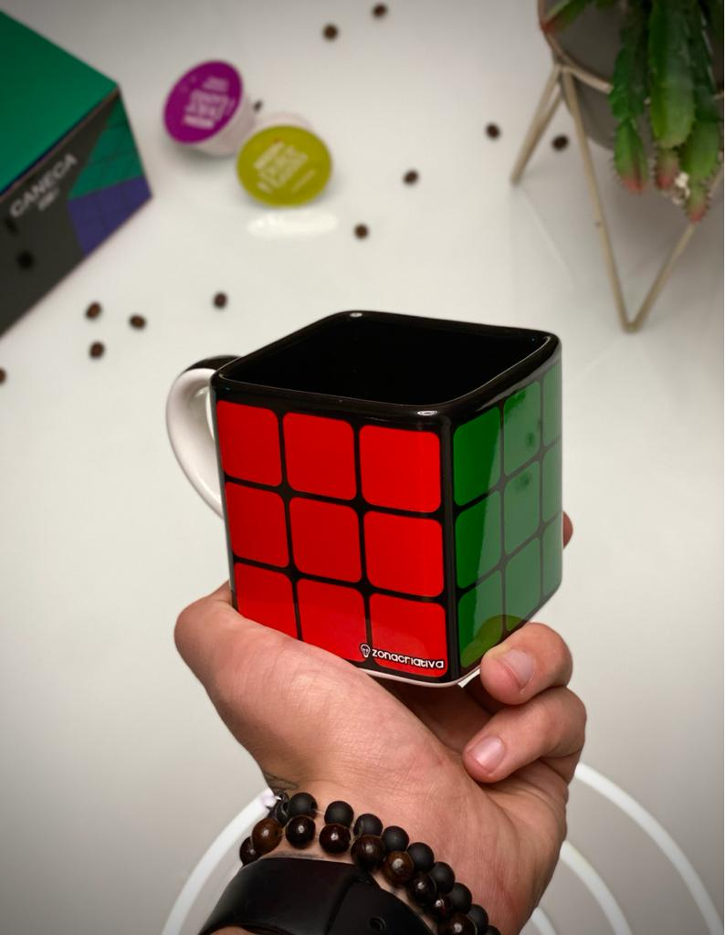 Caneca Cubo Rubiks Cubo Mágico 300ml