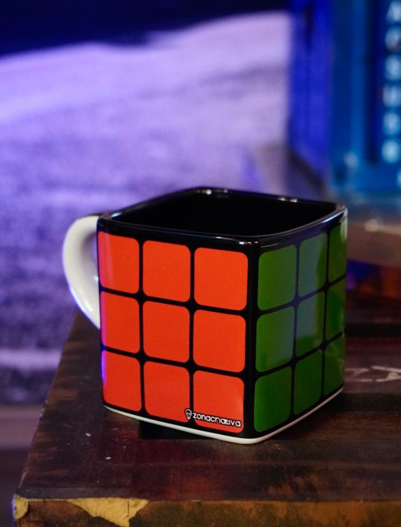 Caneca Cubo Rubiks Cubo Mágico 300ml - Zona Criativa