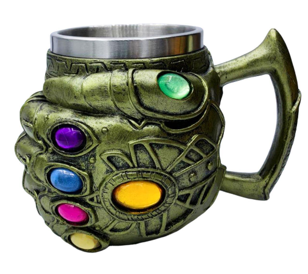 Caneca 3D Manopla do Infinito (Infinity Gauntlet) ''Thanos'': Vingadores Guerra Infinita (Avengers Infinity War)