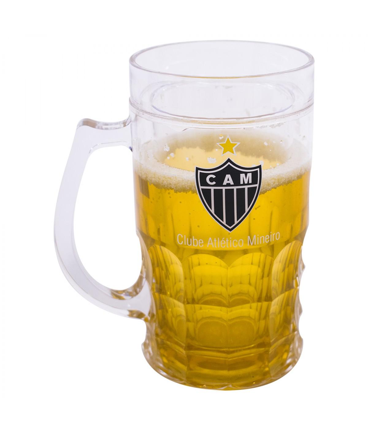 Caneca De Cerveja Com Gel Atlético Mineiro - 600ml