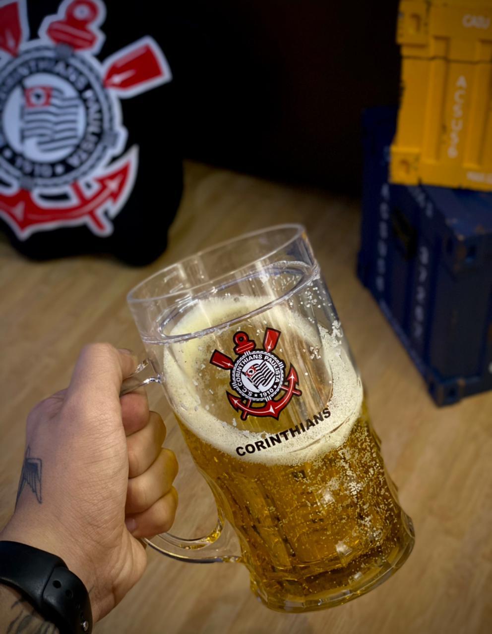 Caneca De Cerveja Com Gel Corinthians - 600ml
