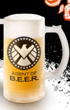 Caneca de Chopp Agent of B.E.E.R.: S.H.I.E.L.D Vingadores Avengers Marvel - 475ml