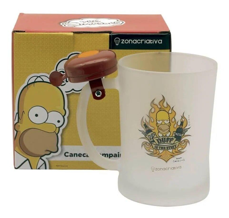 Caneca de Chopp Com Campainha: ''Duff Is The Stuff''  Os Simpsons - 400ml