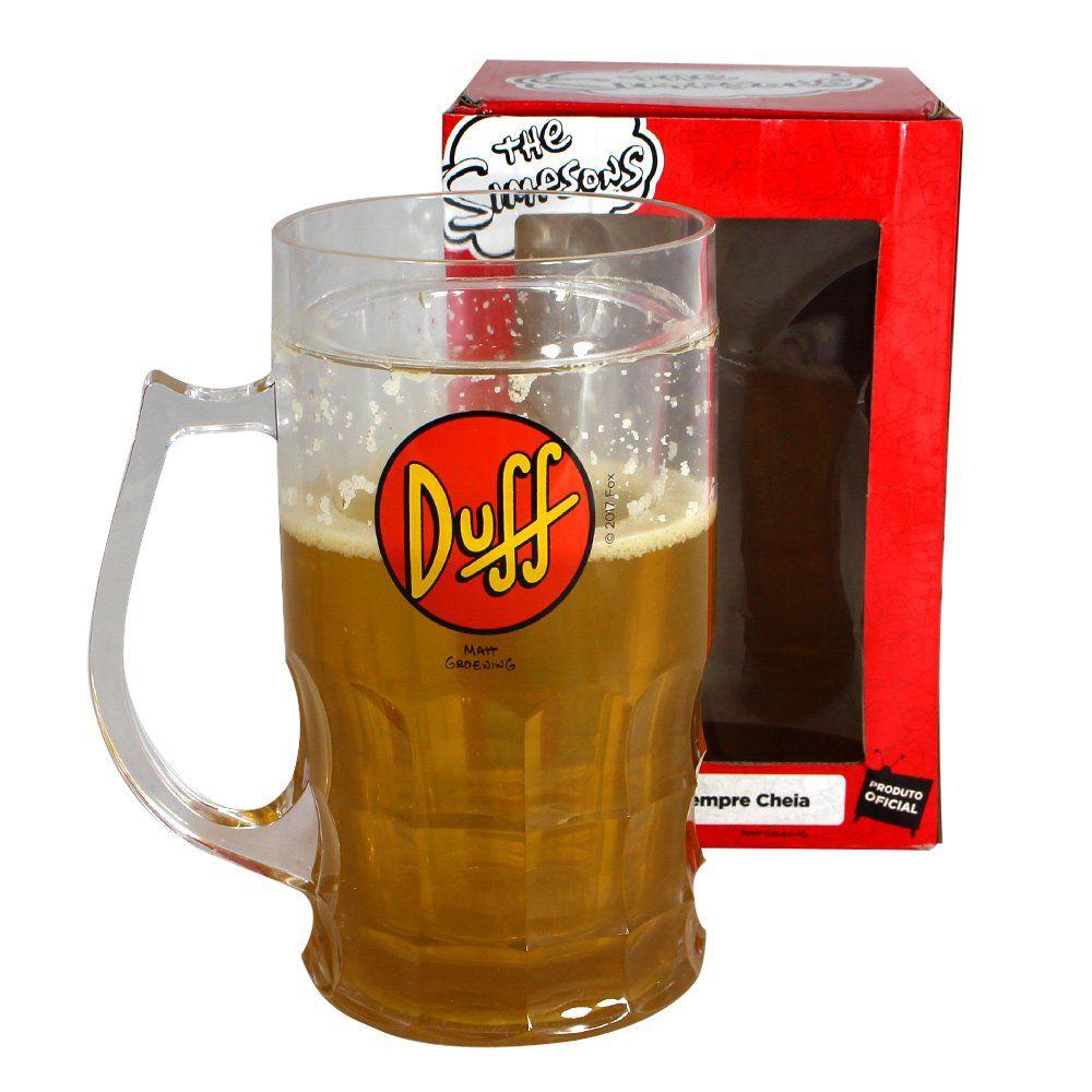 Caneca de Chopp Congelável Duff: Os Simpsons - (500ML)