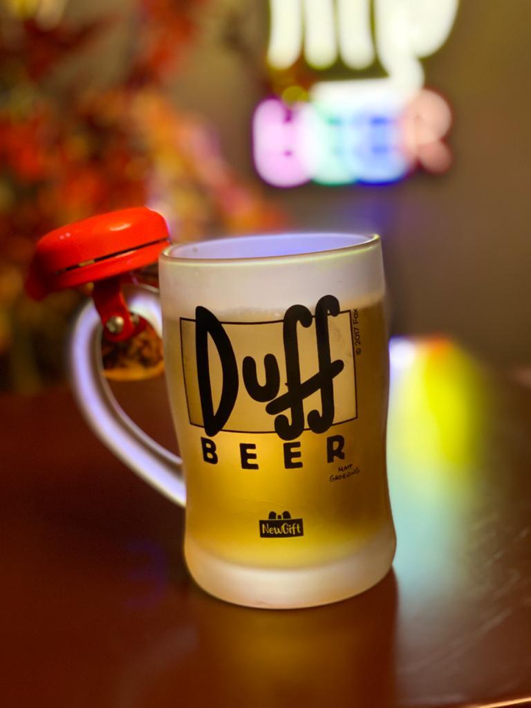 Caneca de Chopp Duff Com Campainha: Os Simpsons - 400ml