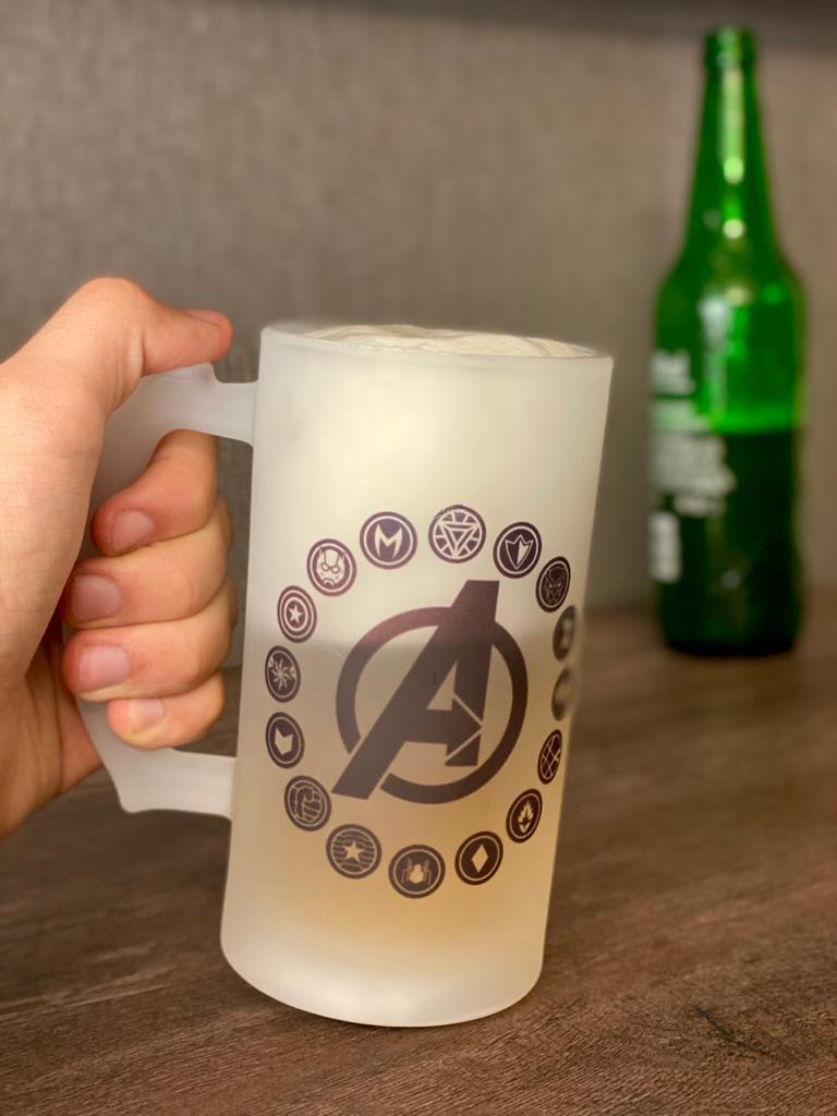 Caneca de Chopp Vingadores (Avengers): Marvel Comics - 475ml