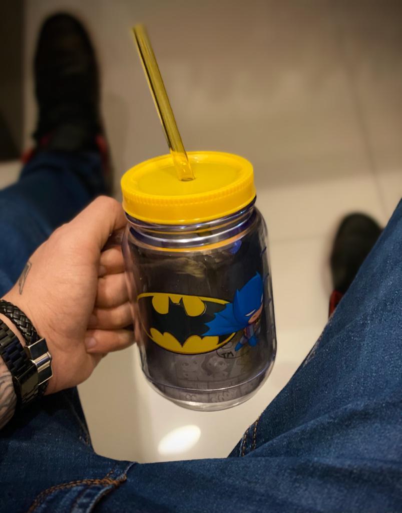 Caneca De Plástico Com Canudo Batman: Liga da Justiça - (420ml)
