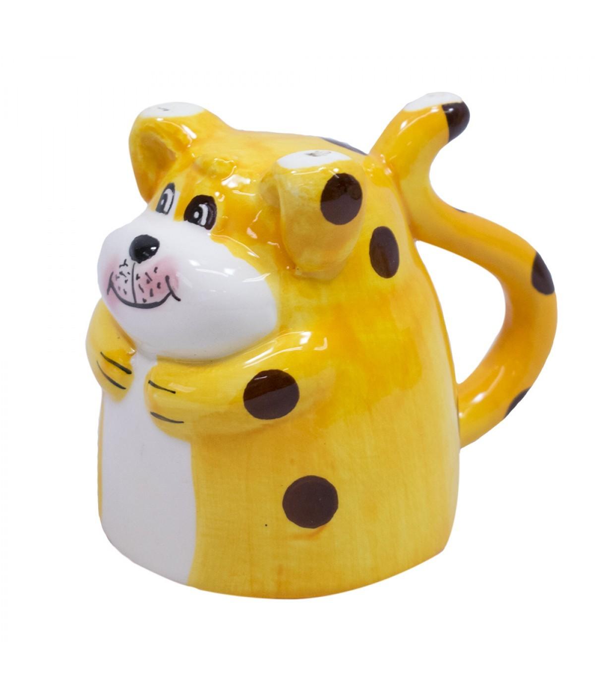 Caneca de Porcelana 3D: Cachorro (160 ml)