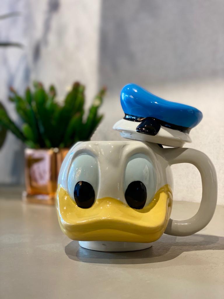 Enfeite de Porcelana / Caneca 3D Pato Donald: Disney (470 ml)