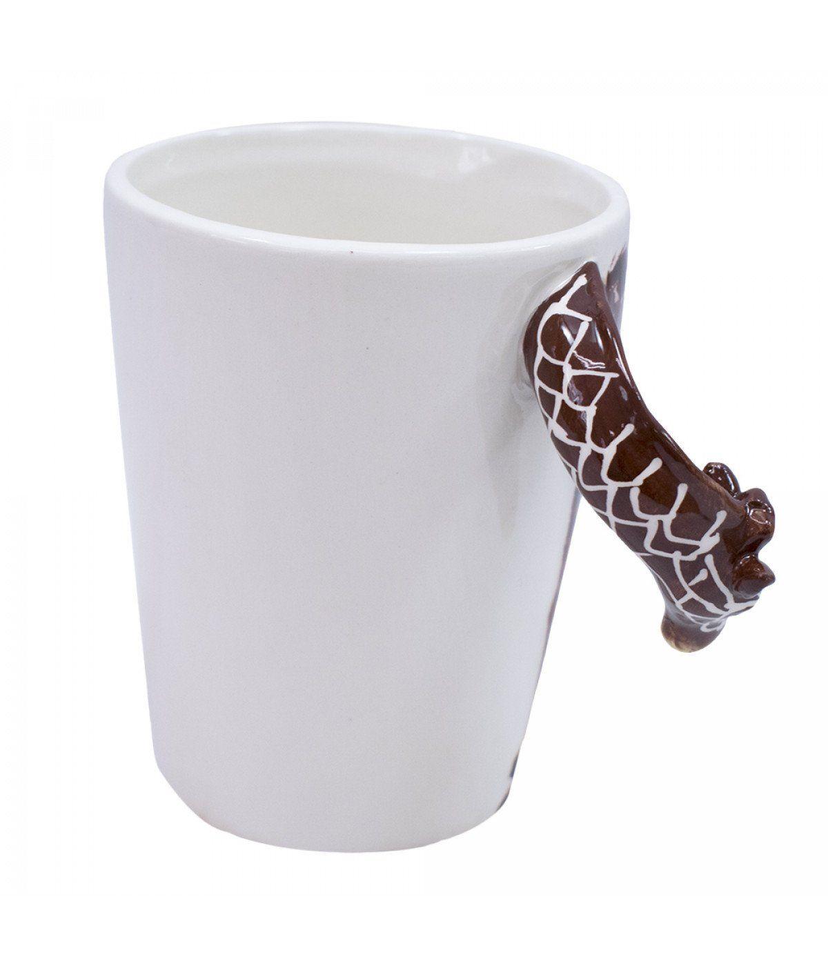 Caneca De Porcelana Alça Girafa (320ml)