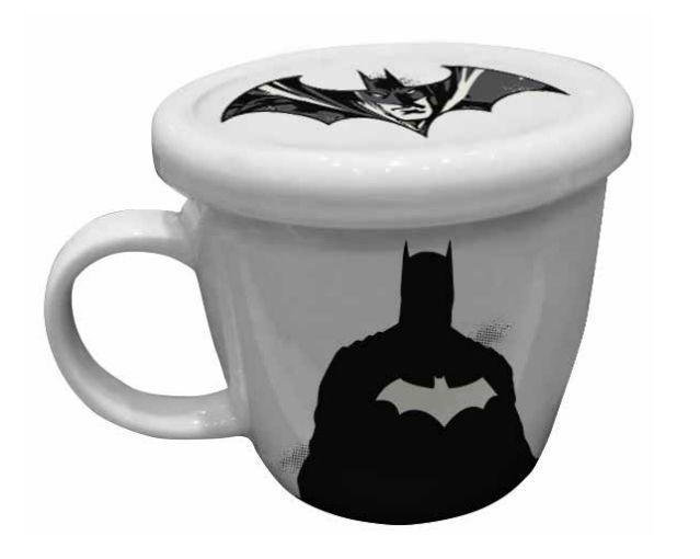 Caneca de Porcelana Com Tampa Batman: Liga da Justica (330ml) - URBAN