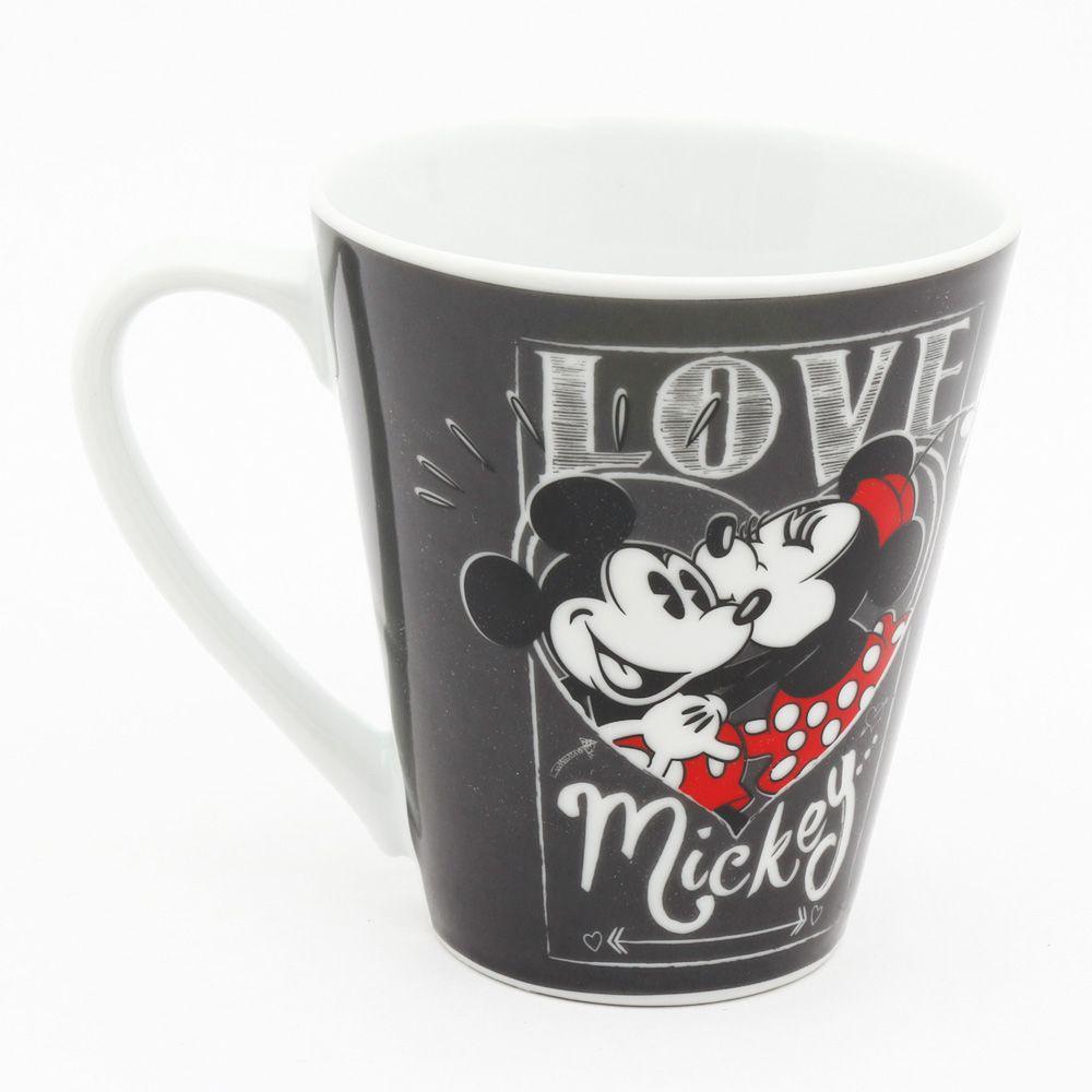 Caneca de Porcelana Mickey Mouse & Minnie Mouse