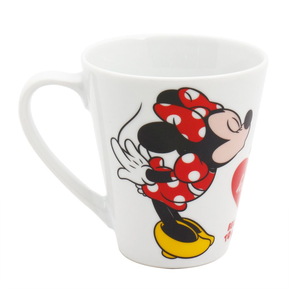 "Caneca de Porcelana Mickey Mouse & Minnie Mouse ""My Heart Belongs To You"": Disney"