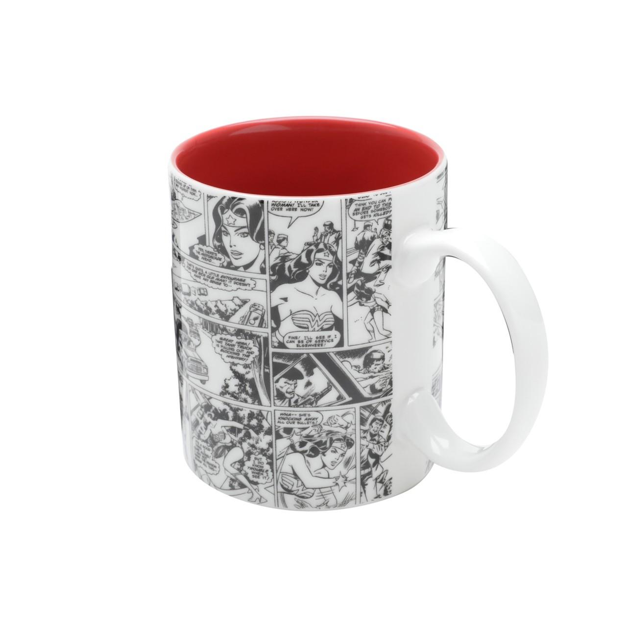 Caneca de Porcelana: Mulher Maravilha Colorido ( Wonder Woman) Dc Comics