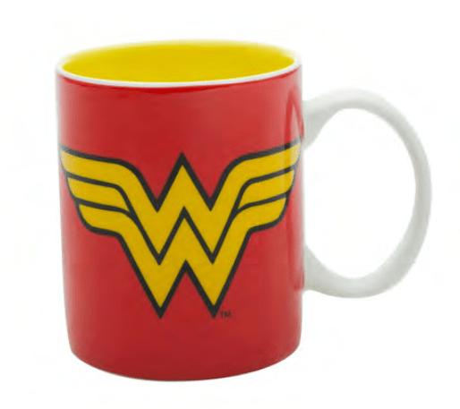 Caneca de Porcelana Mulher-Maravilha (Wonder Woman) - Logo (300ml) - URBAN