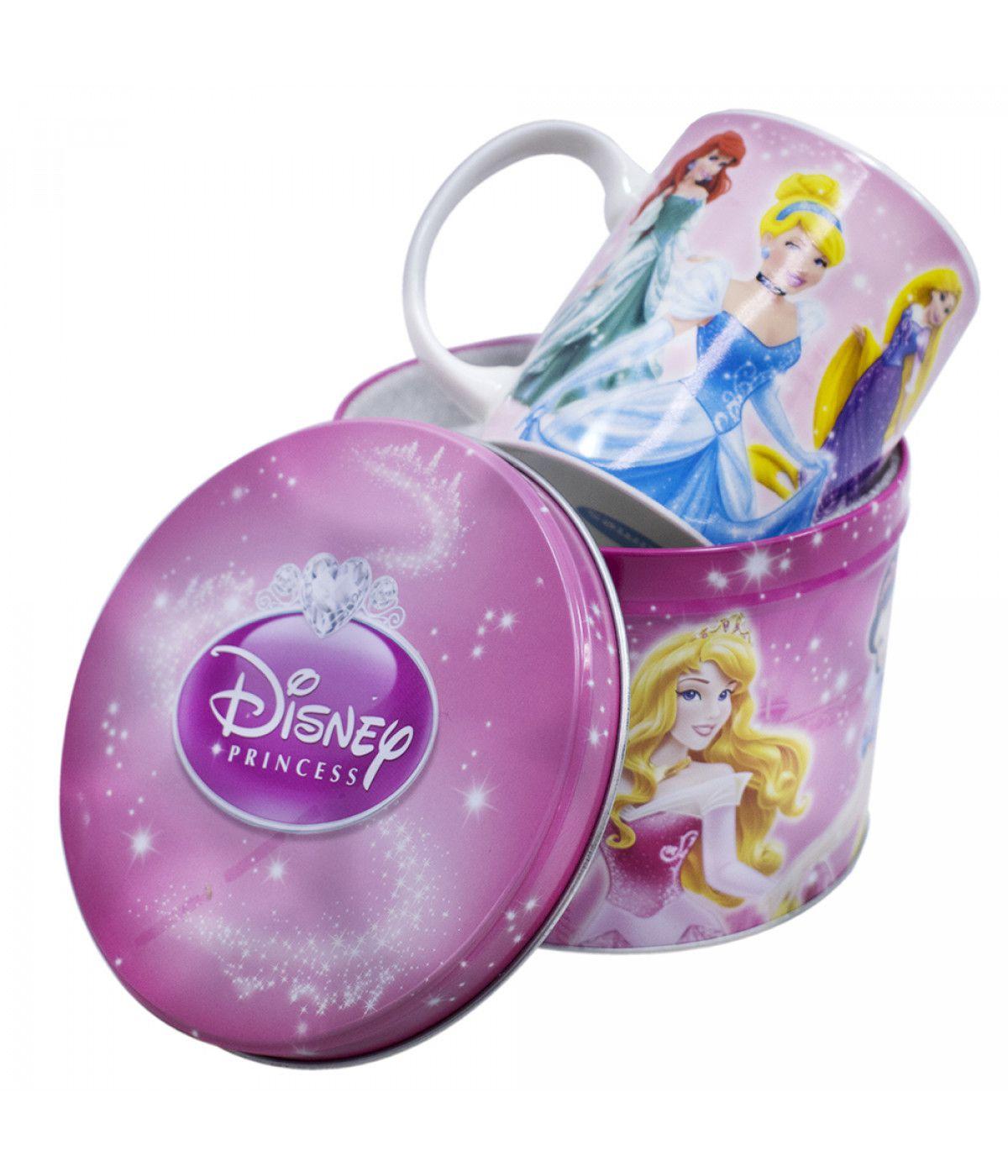Caneca De Porcelana Na Lata 350ml Princesas - Disney