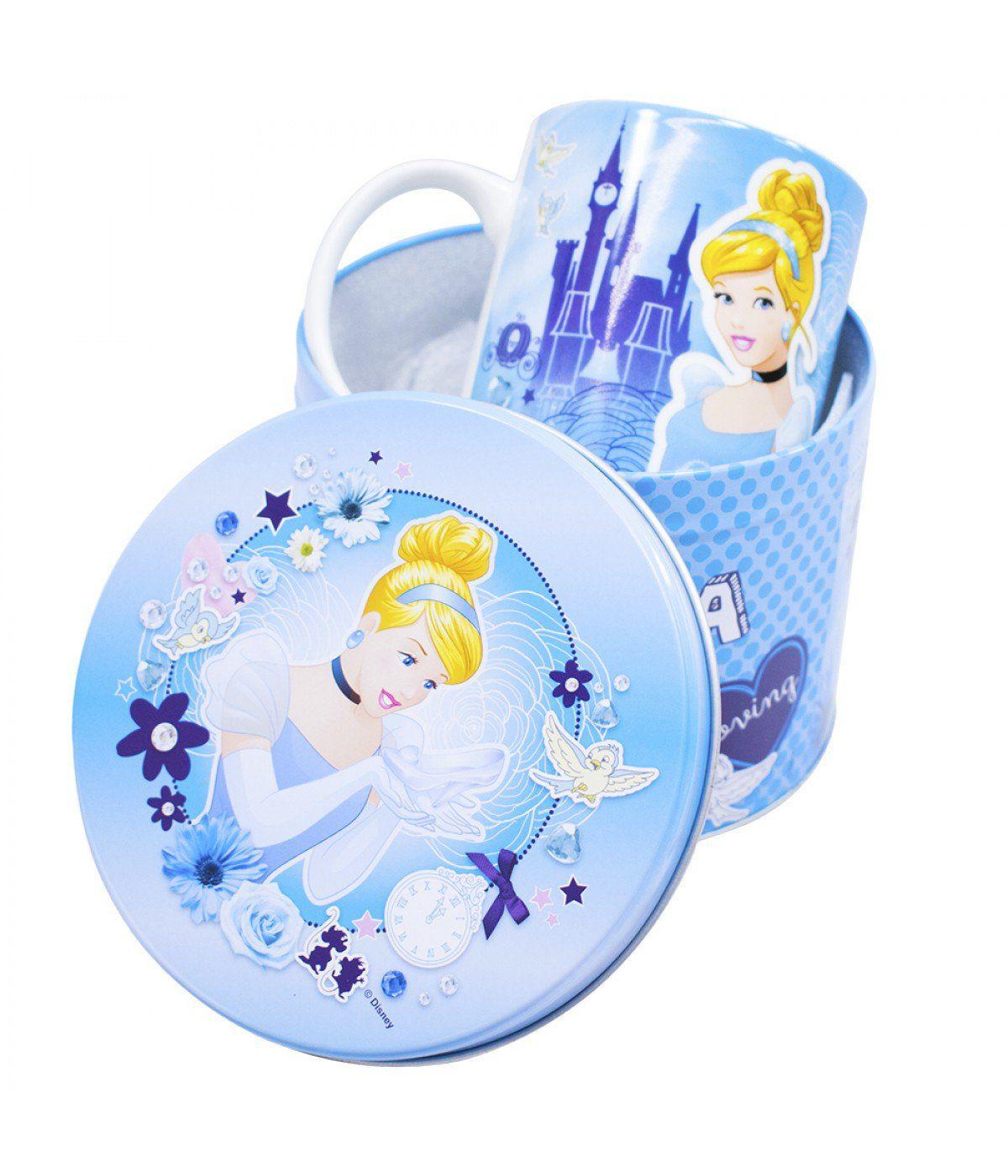Caneca De Porcelana Na Lata Cinderela: Princesas Disney (350ml)