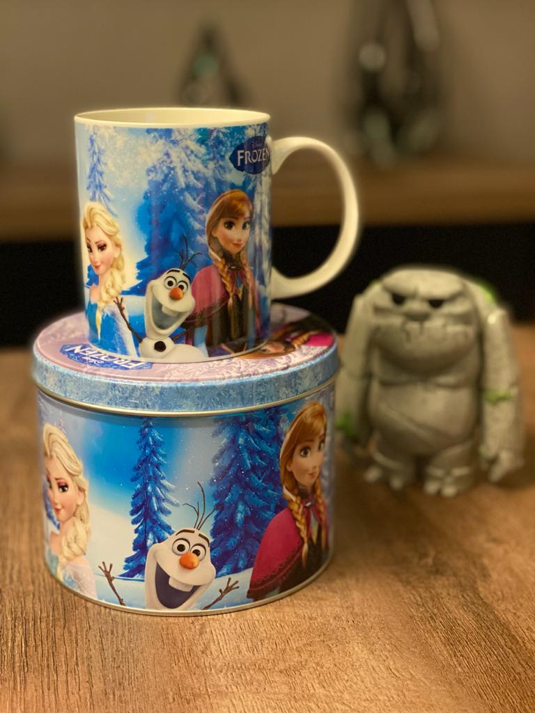 Caneca De Porcelana Na Lata Frozen: Princesas Disney (350ml)