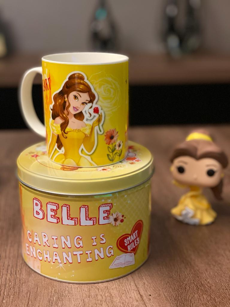 Caneca de Porcelana na Lata Princesa Bela - Disney