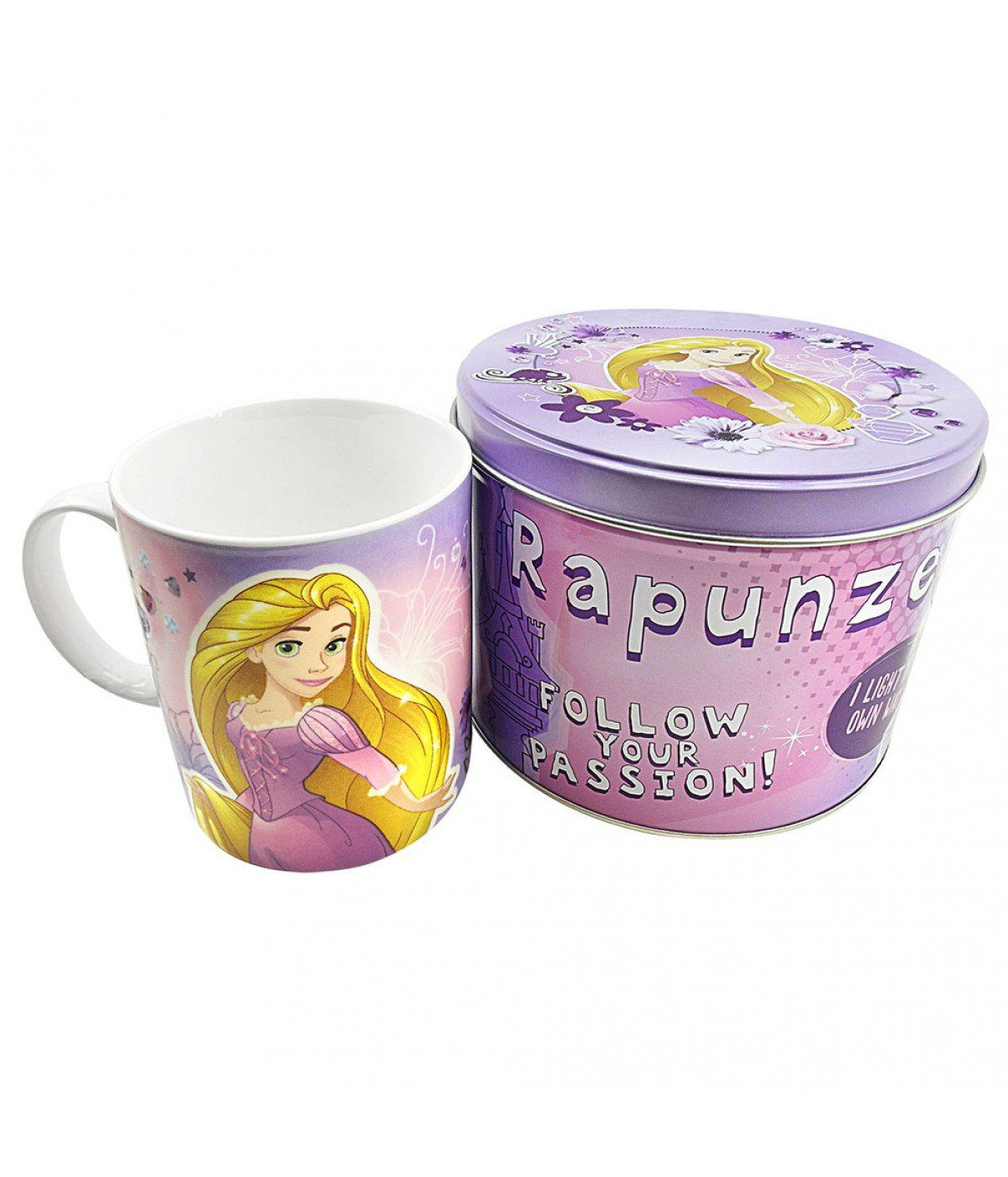 Caneca De Porcelana Na Lata Rapunzel: Princesas Disney (350ml)