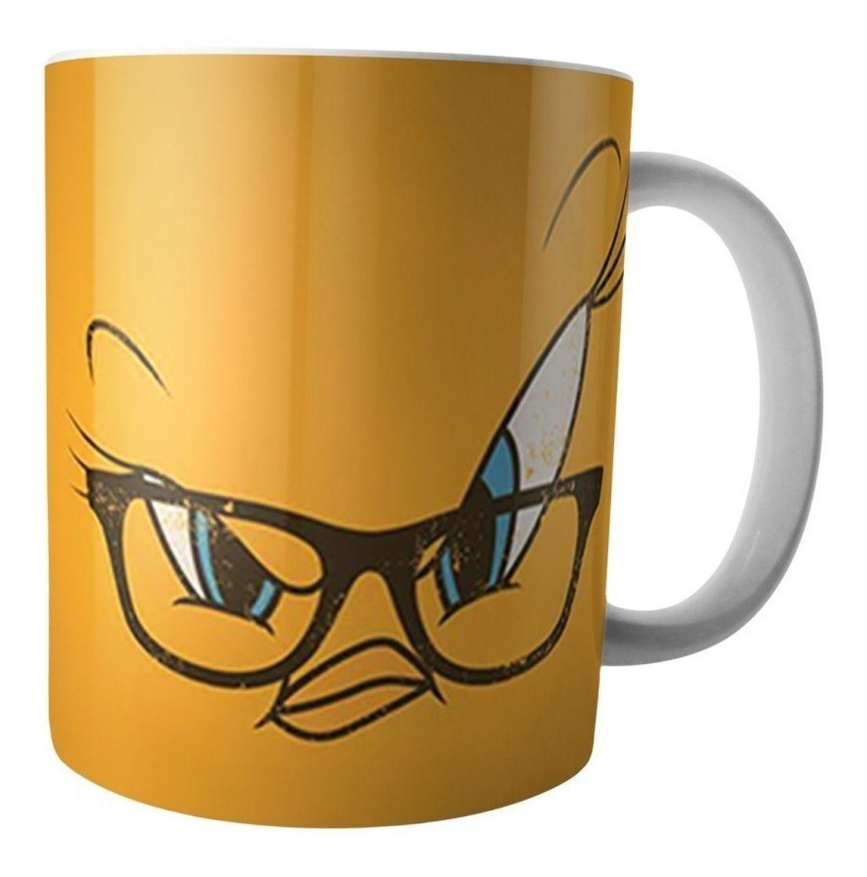 Caneca de Porcelana Piu-piu (De Óculos): Looney Tunes (300ml) - Metropole
