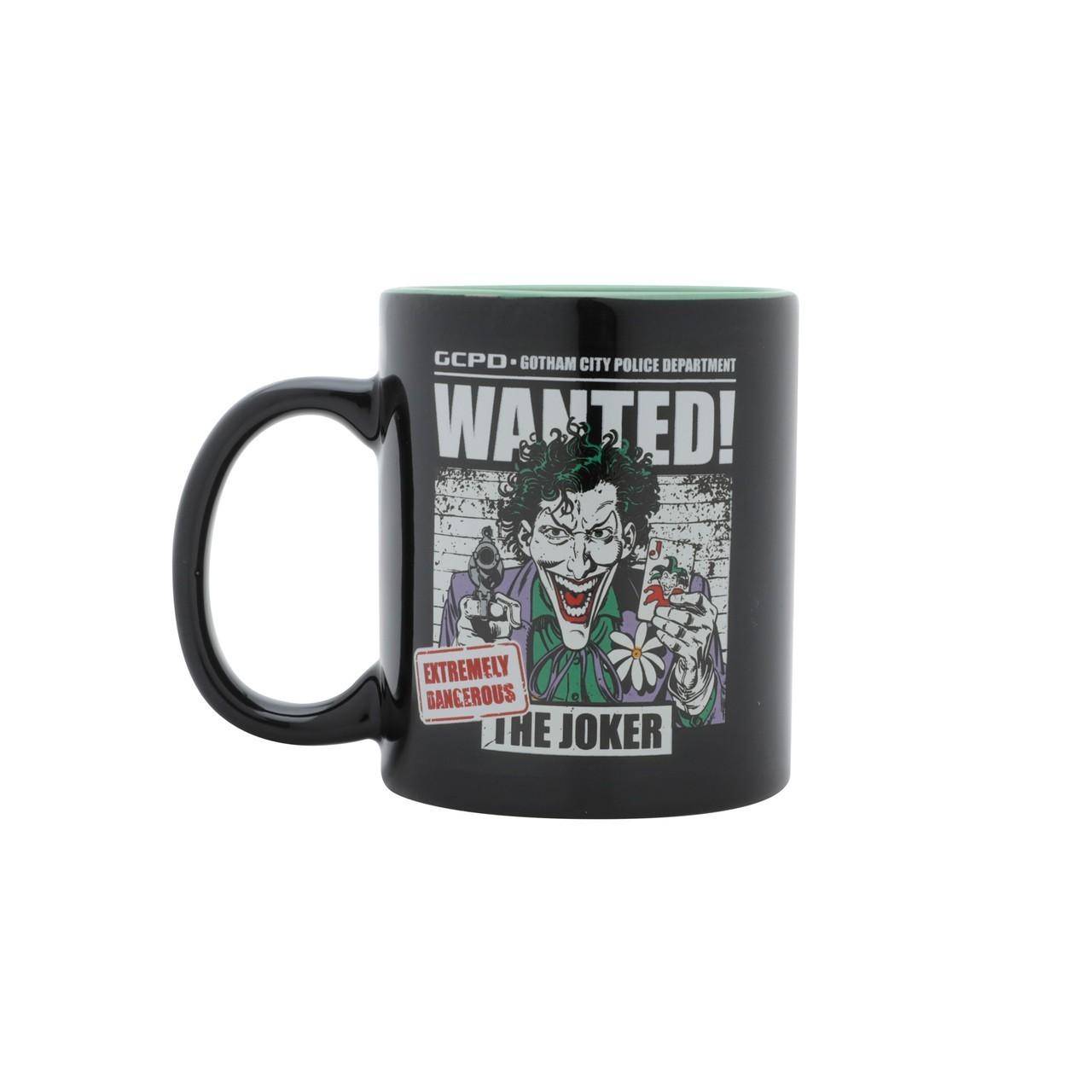 Caneca de Porcelana: '' Wanted The Joker '' ( Coringa ) Dc Comics - Urban