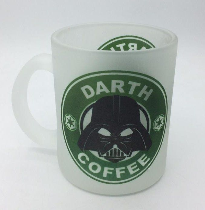 Caneca de Vidro Darth Coffee - (325ML)