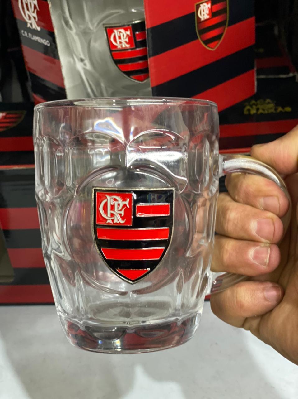 Caneca de Vidro Flamengo 400 ml - LXT