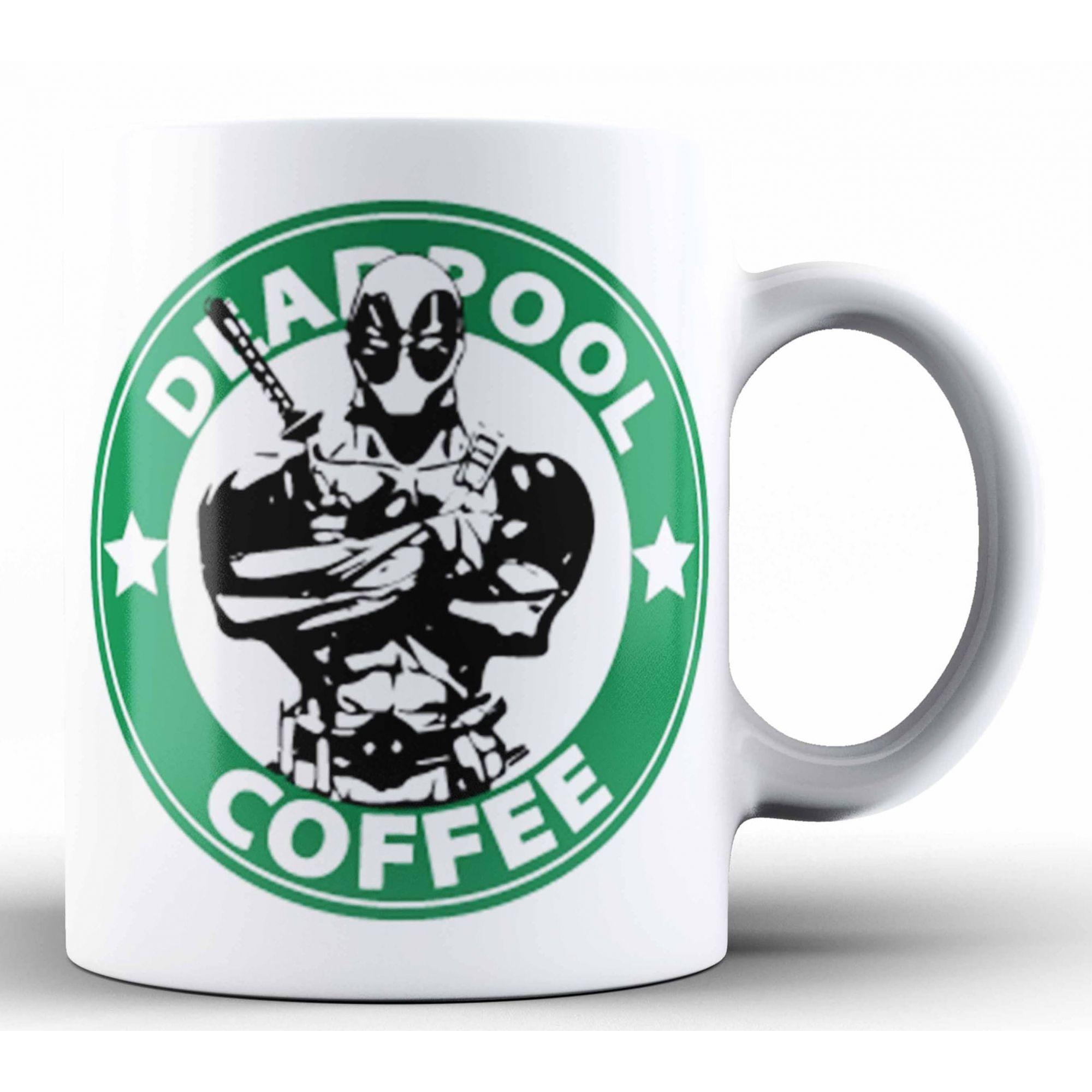 Caneca Deadpool Coffee: Marvel