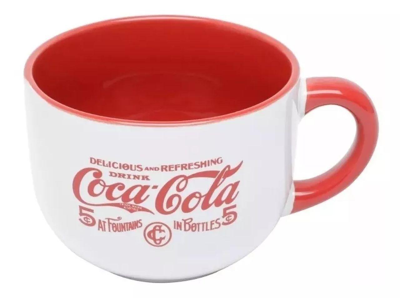 """Caneca """"Delicious Drink"""" (Branco): Coca-Cola (450ml) Coca Cola"""