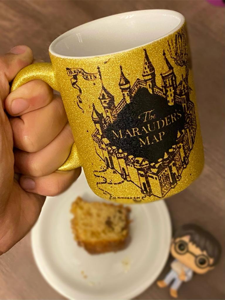 Caneca Dourada Mapa do Maroto: Harry Potter - (325ML)