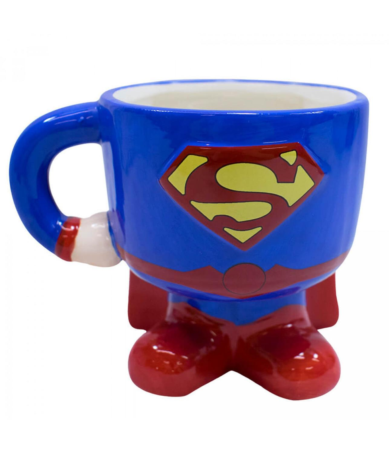Caneca enfeite de Porcelana Superman DC SUPER FRIENDS