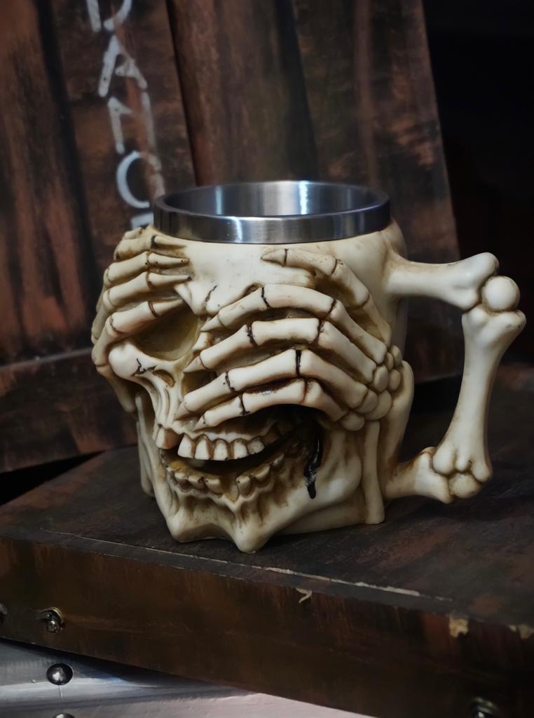 Caneca Esqueleto Caveira (Não Vejo)
