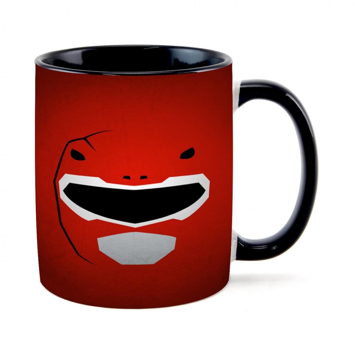 Caneca Face Ranger Vermelho: Power Rangers