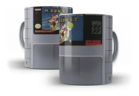 Caneca Fita Nintendo Super Mario Wolrd  (Branca)