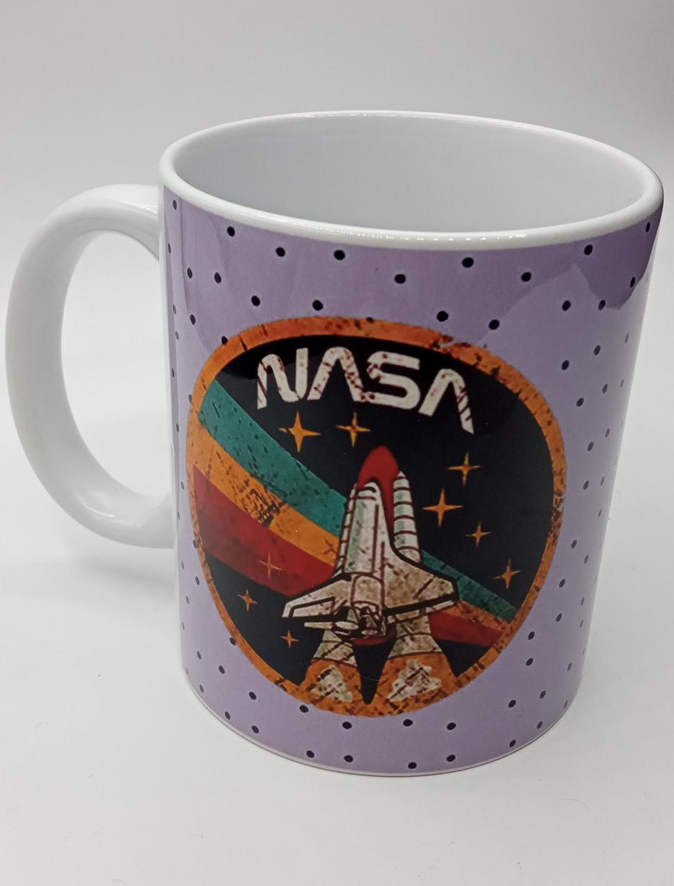 Caneca Foguete NASA  (Branca)