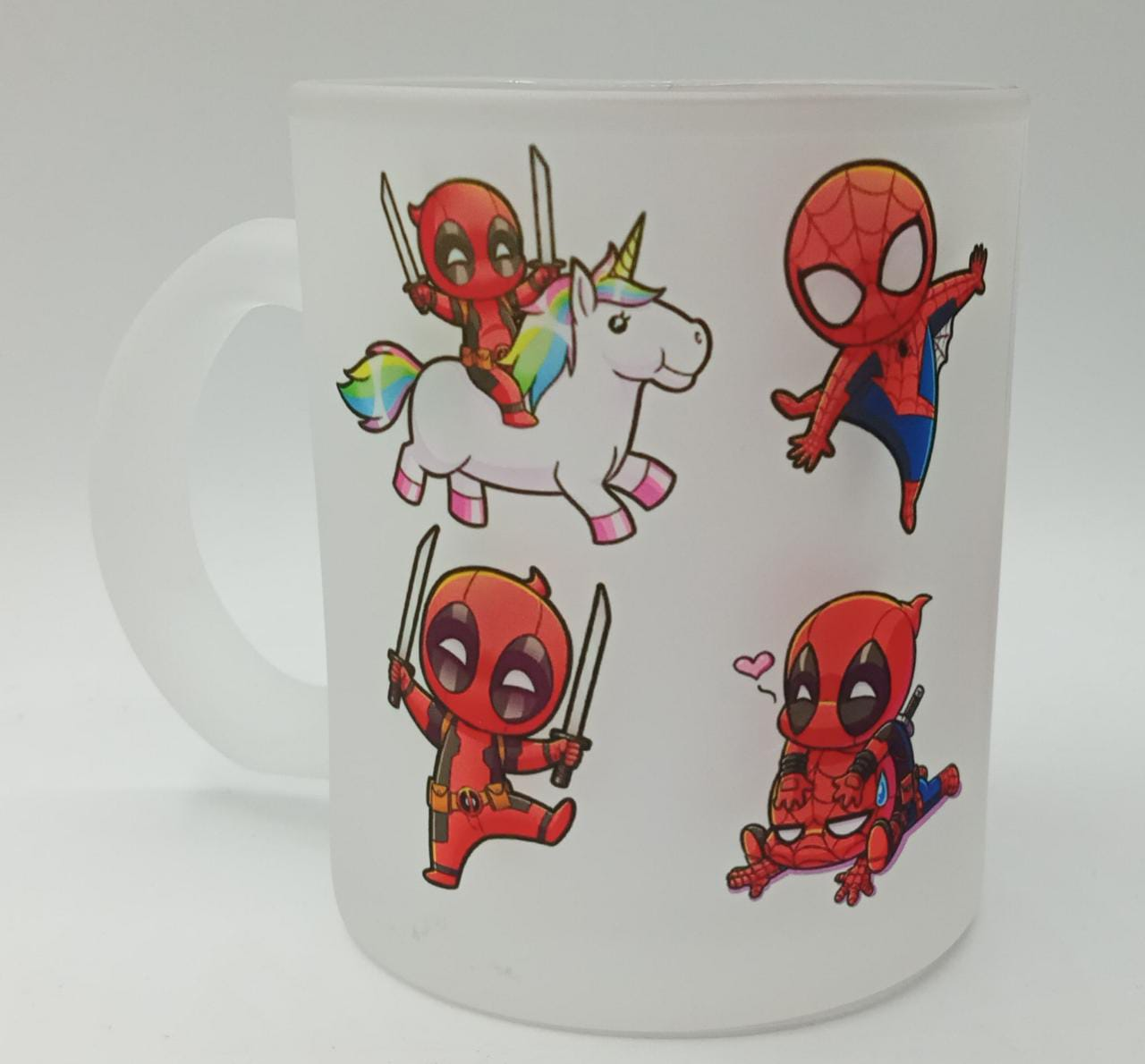 Caneca Fosca ''DeadPool e Spider-Man - Marvel