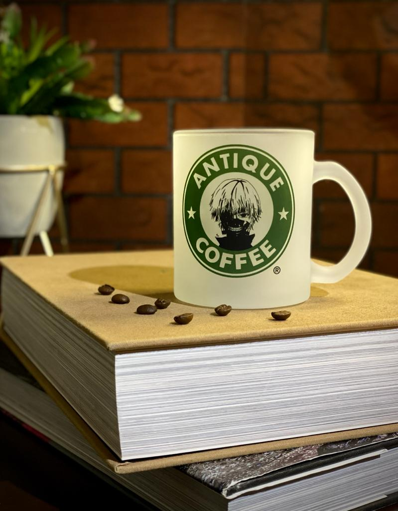 Caneca Fosca Kaneki ''Antique Coffee'' - Tokyo Ghoul - EV